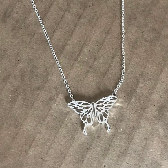 Stainless Steel Butterfly Necklace